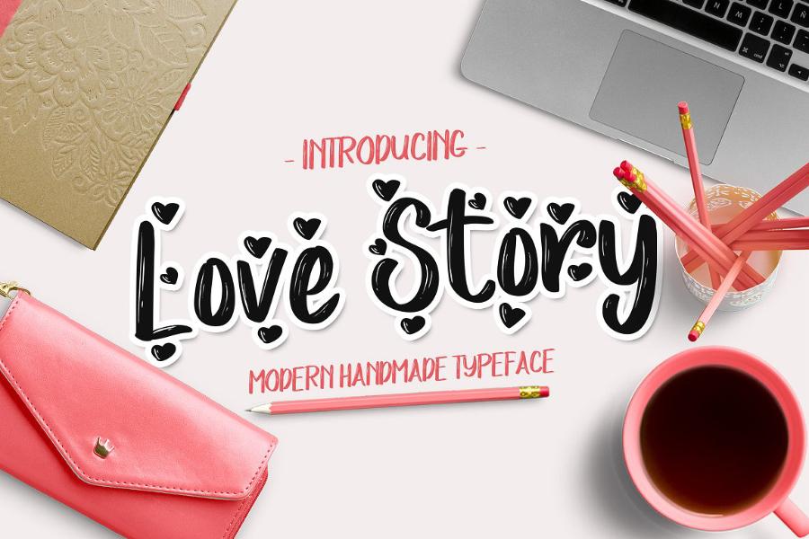 love-story-script-font