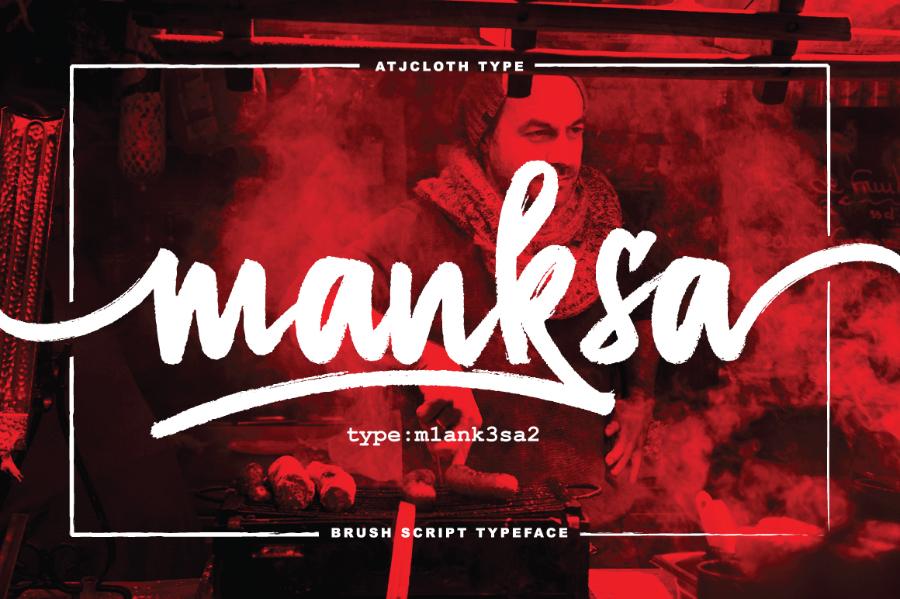 manksa-brush-font