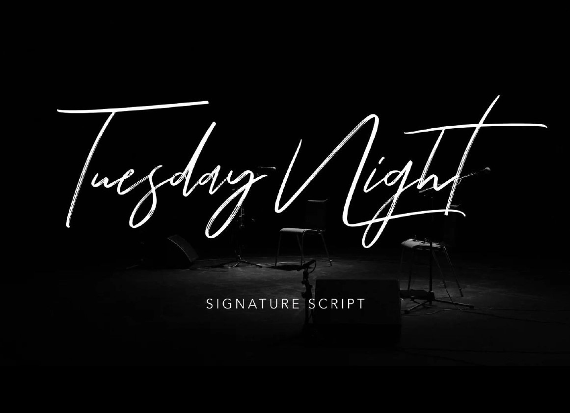 Tuesday Night Signature Script - Free Fonts