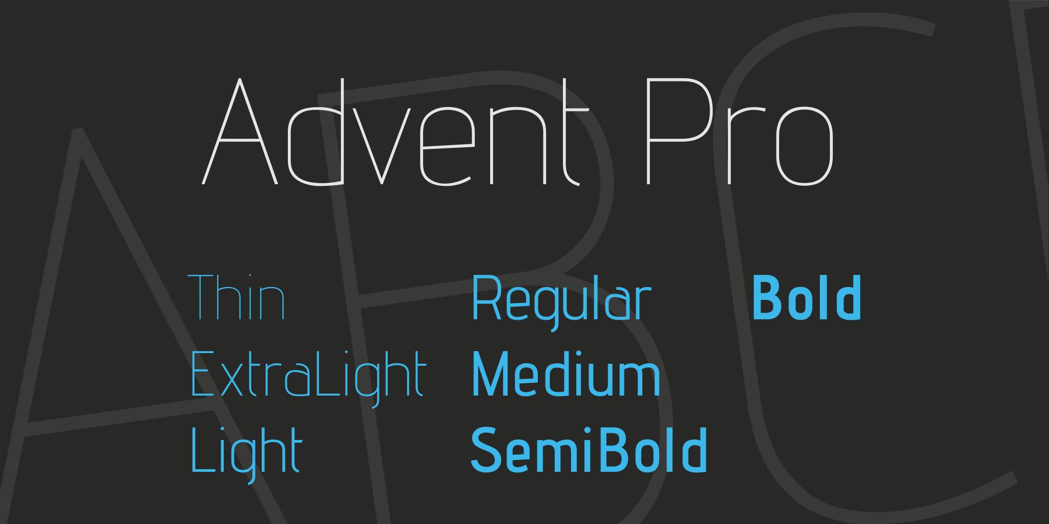 advent-pro-font-1-original