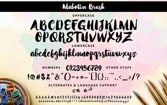 mabotim-brush-font-3