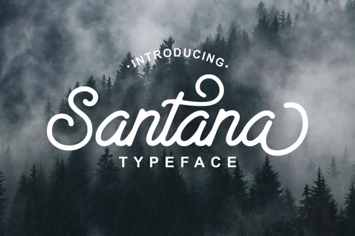 santana-script-font