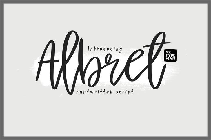 albret-handwritten-font