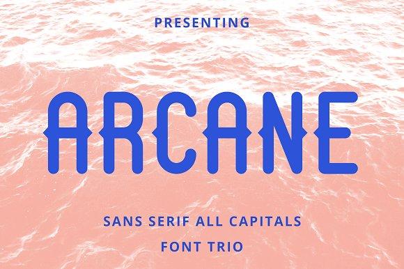Arcane Sans Font Trio