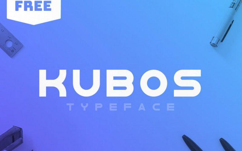 Kubos现代logo英文字体下载