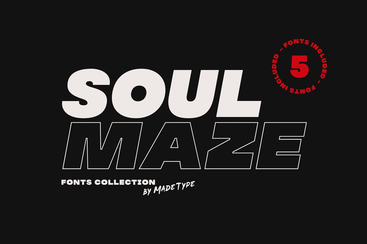 made-soulmaze-font-collection