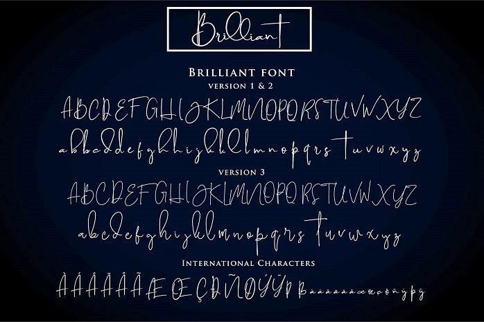 Brilliant Signature Font-2