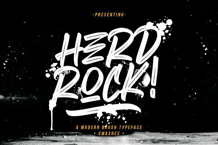 herdrock-brush-font