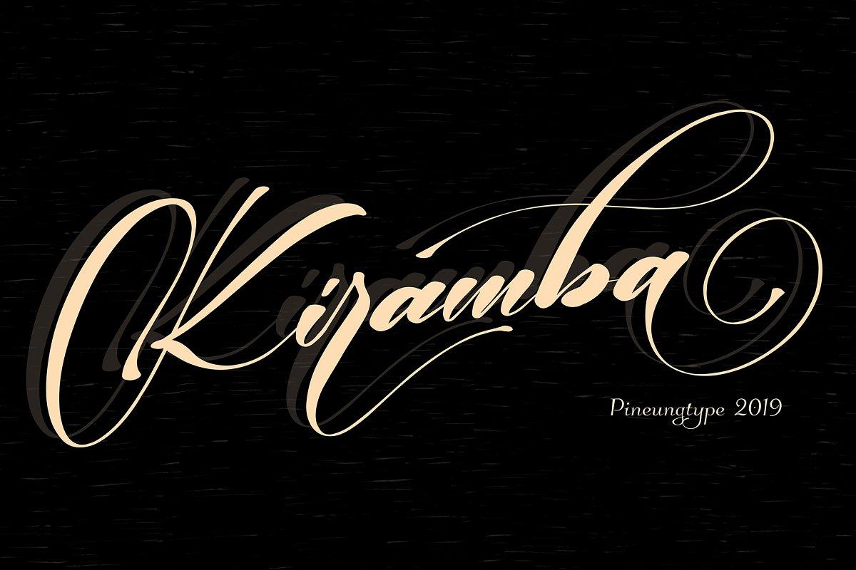 kiramba-calligraphy-font