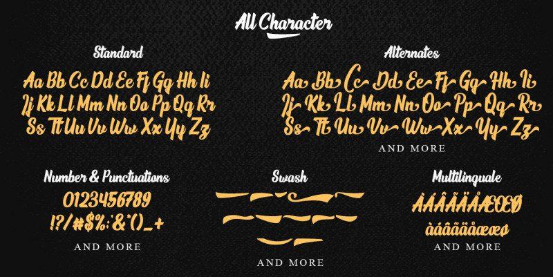 Phamelo Script Font-3