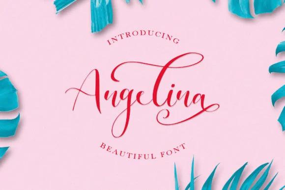 Angelina Calligraphy Font