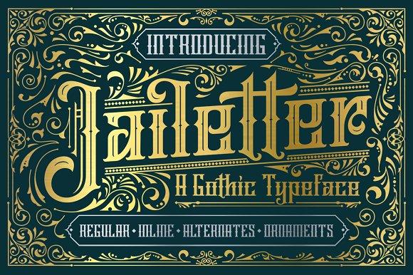 Jailetter Typeface