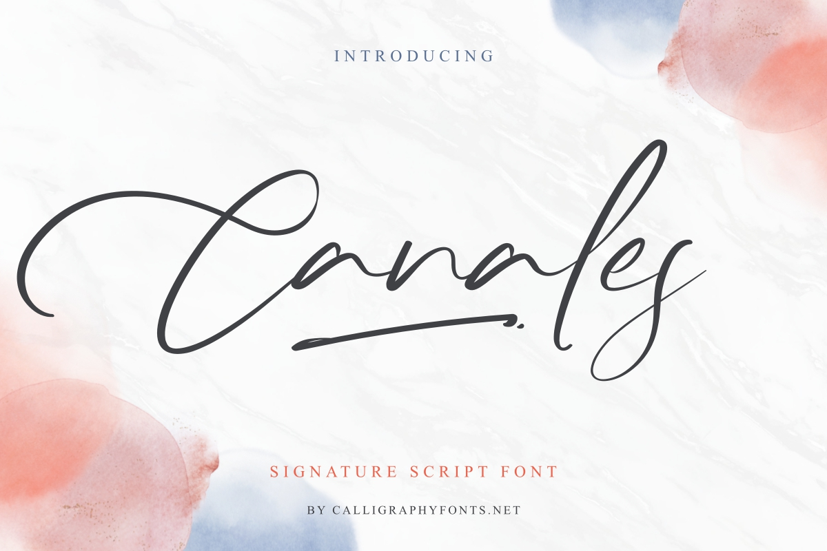 Canales Font   Free Fonts