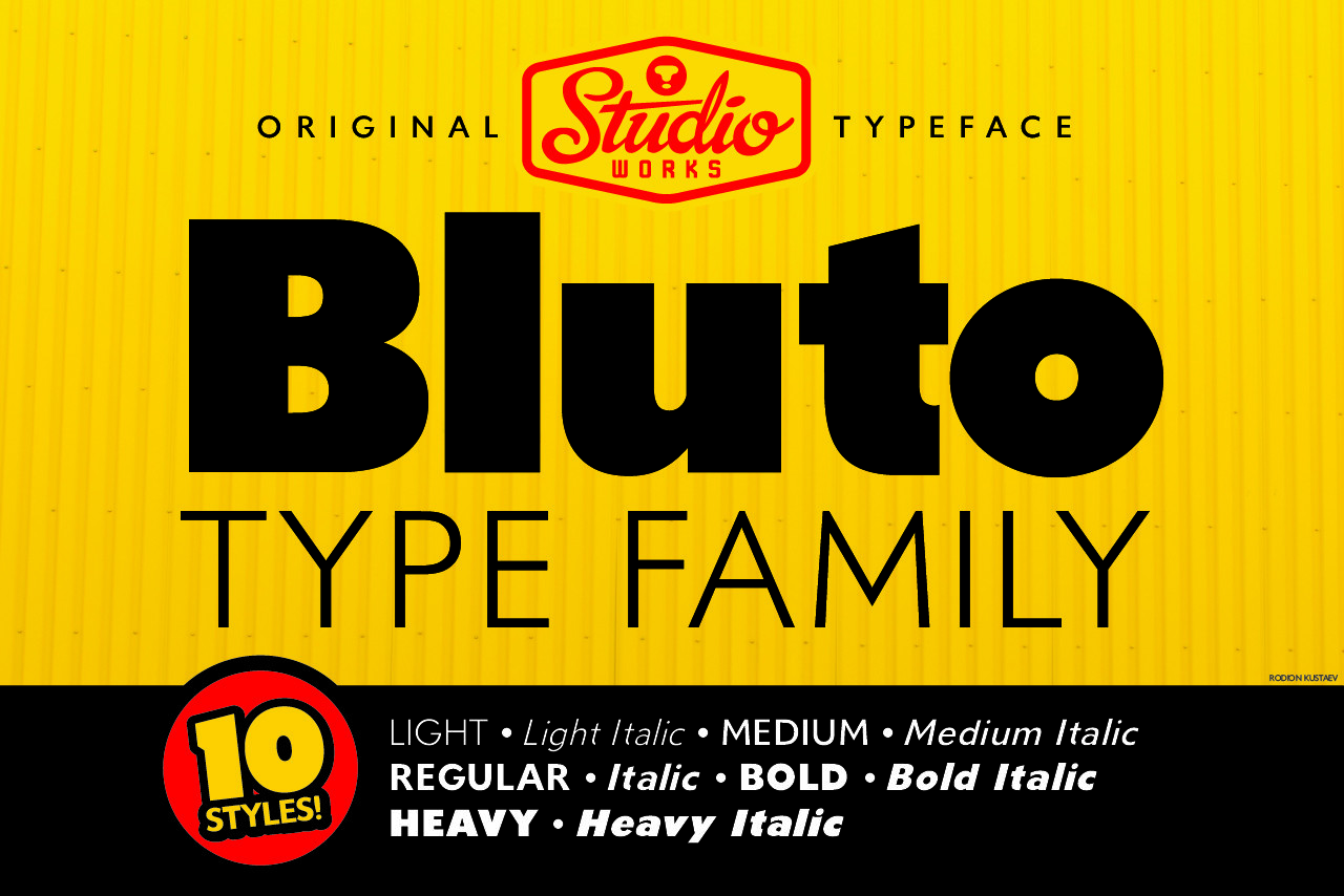 Bluto Bold Sans Font Family 1